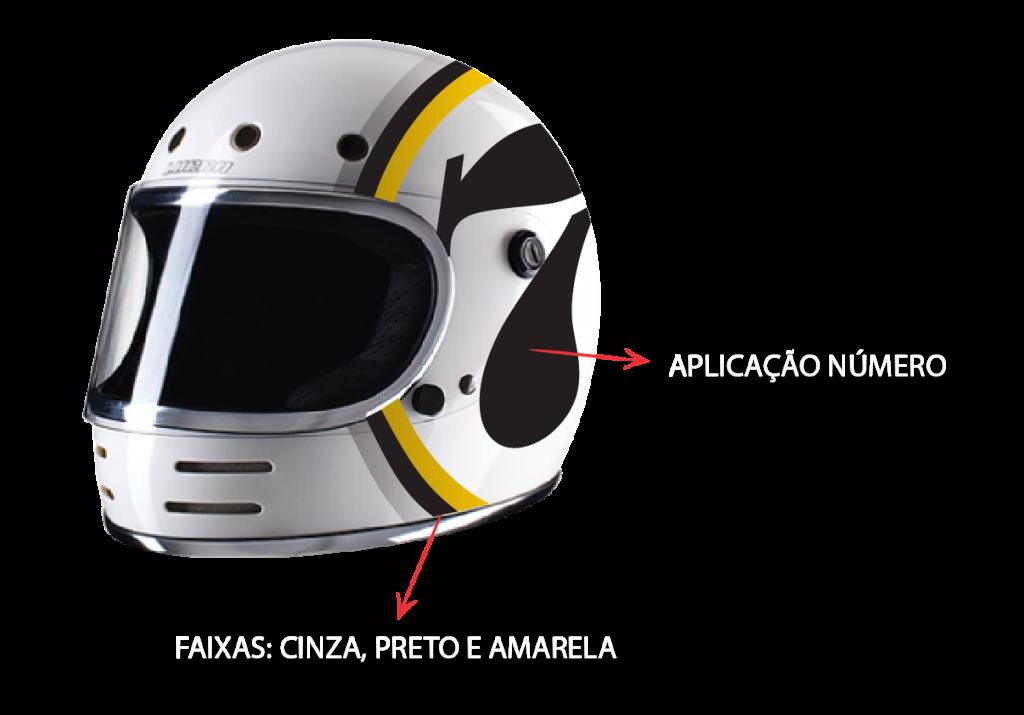 Aplicacoes e personalizacao de capacete Custom Lab